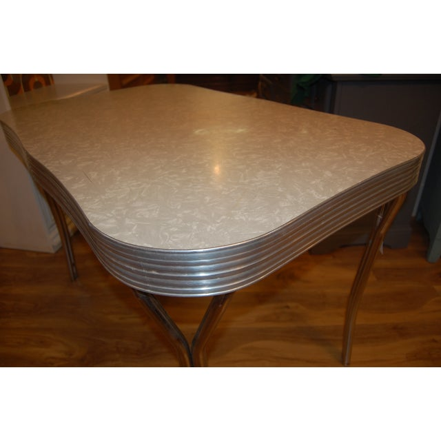 1950s Y-Leg Chrome Dining Table - Image 6 of 6