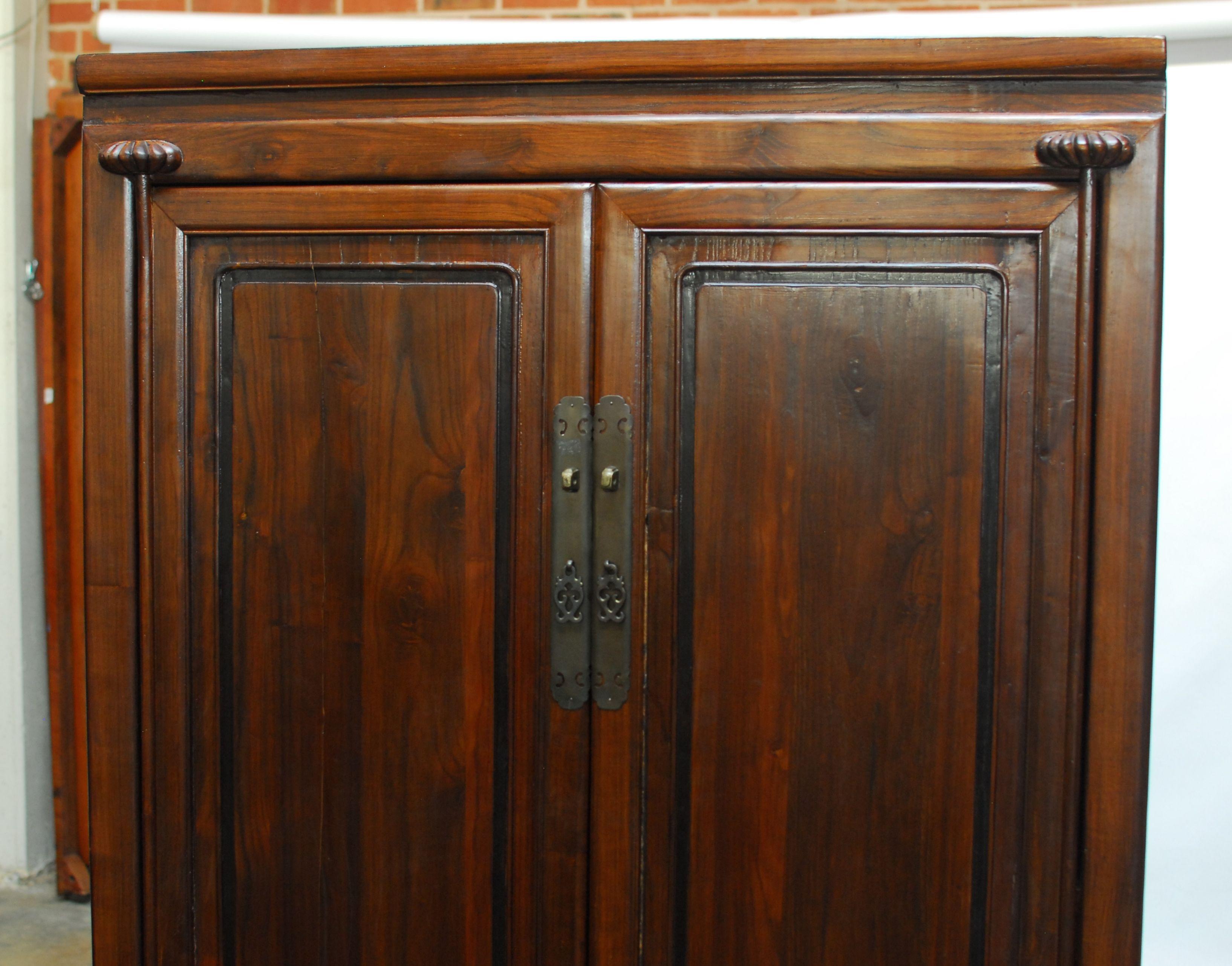 chinese kitchen cabinet armoire chairish