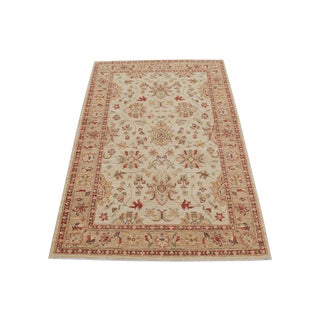 Traditional Pakistani Hand-Knotted Wool Rug - 4′ × 6′