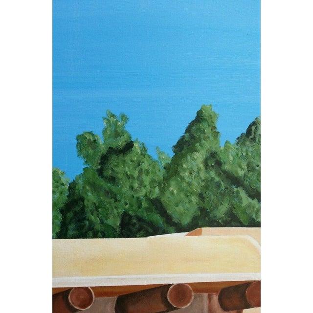 Santa Fe Skyline Signed Original Acrylic Canvas - Image 4 of 6