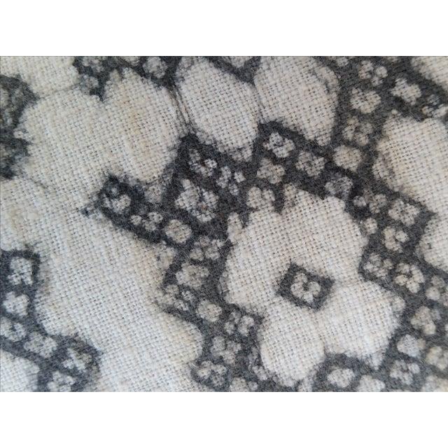 Yao Cross Batik Pillows - A Pair - Image 4 of 5