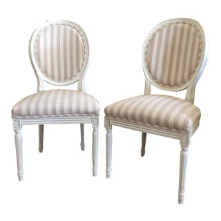 Paris Oval Side Chairs - A Pair