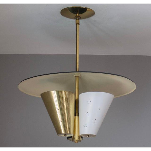 Mid-Century Tricone Reflector Lightolier Fixture - Image 3 of 4