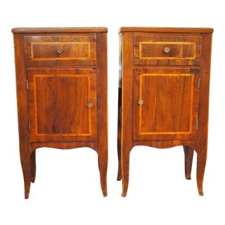 Pair of Italian Neoclassical Commodini or Side Tables