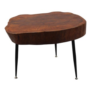 Free Form Wood Side Table