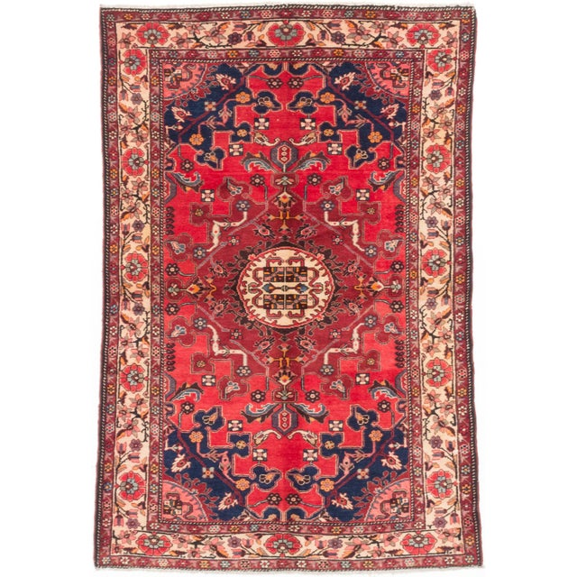 "Image of Vintage Tafresh Persian Rug - 4'4"" X 6'6"""