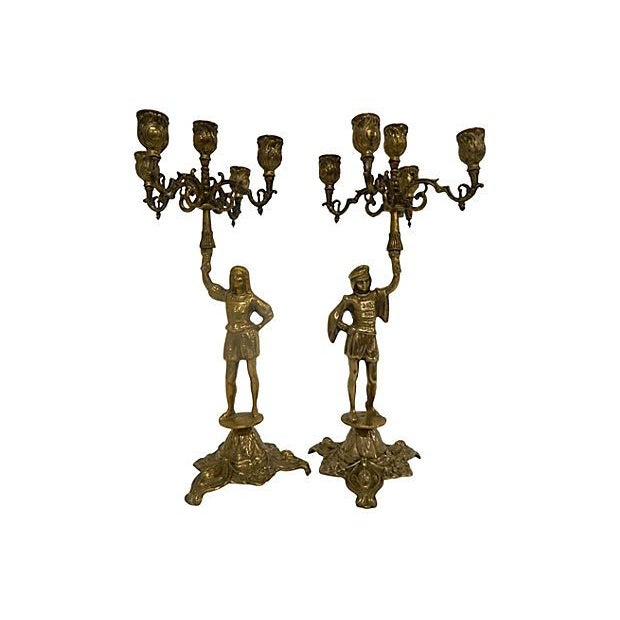 Image of AntiqueFrench Candelabras - A Pair