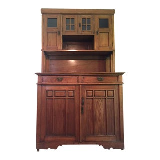 Antique Mission Style Hutch