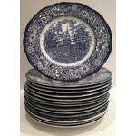 """Image of 1970's English Staffordshire """"Independence Hall"""" Dinner Plates - Set of 15"""