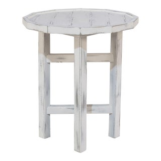 Sarreid LTD Katadin White Side Table