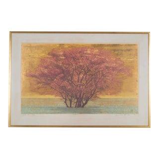 "Joichi Hoshi ""Veldt (B)"" Framed Woodblock Print"
