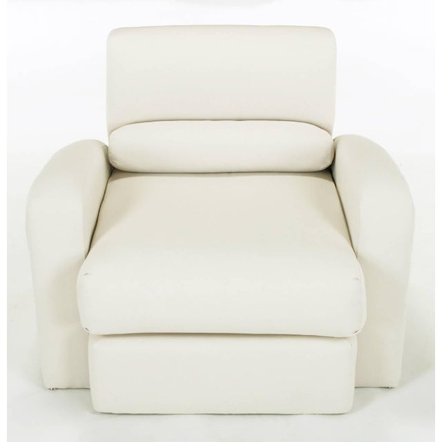 Jay Spectre Steamer Lounge Chair with Ottoman - Image 2 of 6