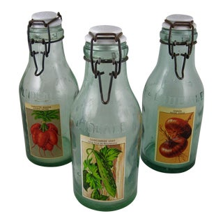 French L'Ideale Canning Preserve Jars - Set of 3