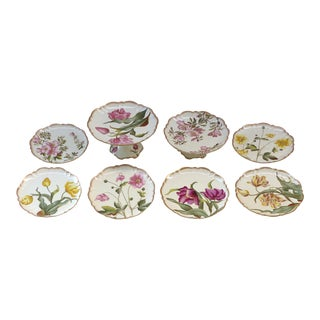 Azalea England C. & Sons Floral Dishes & Cake Stands - Set of 8