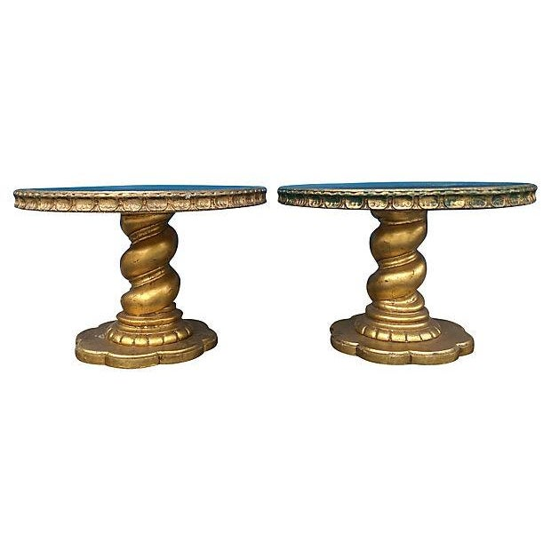 Florentine Style Gilt Twist Tables - A Pair - Image 1 of 7