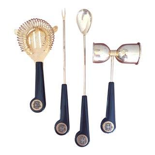 Vintage Mad Men Era Bartending Tools - Set of 4