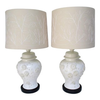 Ginger Jar Table Lamps - A Pair