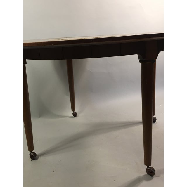 Mid-Century Round Marble Insert Dining Table & Chairs - Image 8 of 11