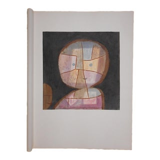 Vintage Paul Klee Ltd. Ed. Abstract Silkscreen Print