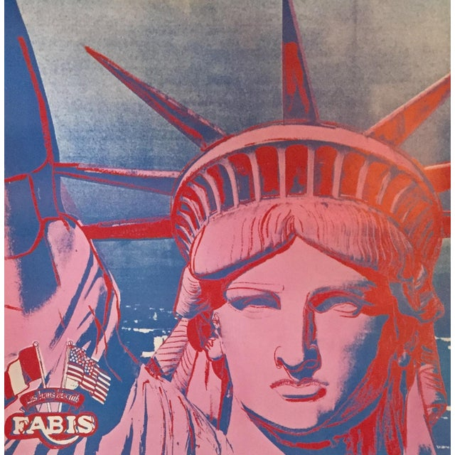 Andy Warhol Exhibition Poster Statue of Liberty - Image 3 of 4