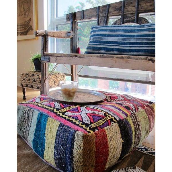 Image of Indigo Striped Pillow No. 18