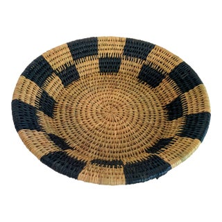 Handwoven African Catch All Boho Chic Basket
