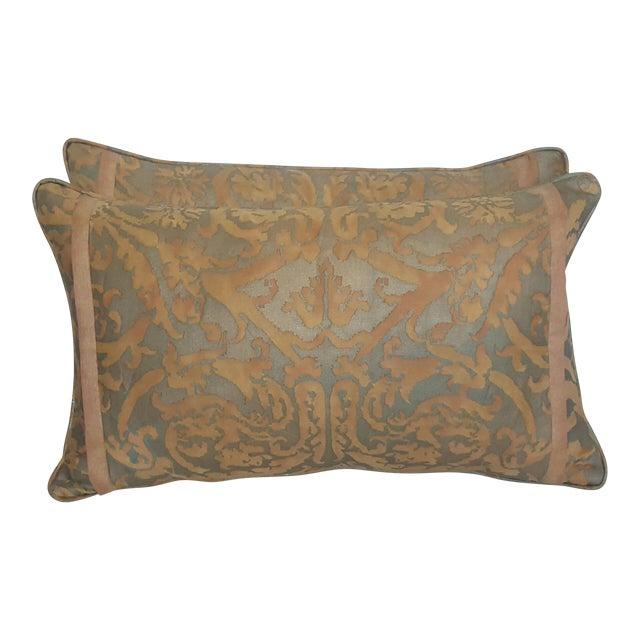 Fortuny Damask Lumbar Pillows - A Pair - Image 1 of 4