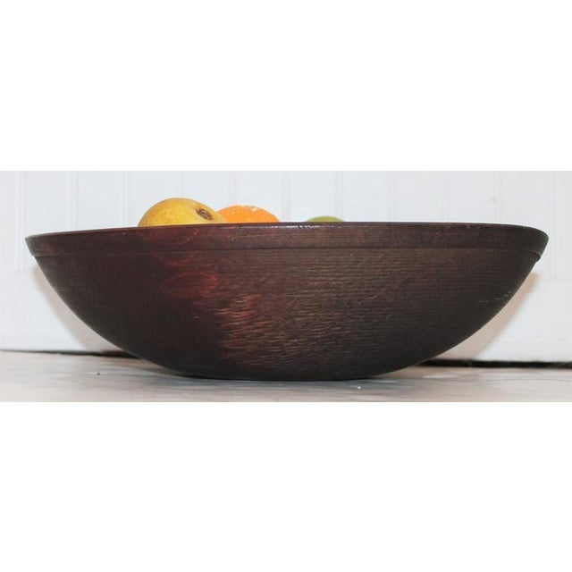19th Century Wood Butter Bowl with Collection, 24 Pieces Stone Fruit - Image 6 of 9