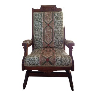 Early 20th C. Walnut Rocking Chair
