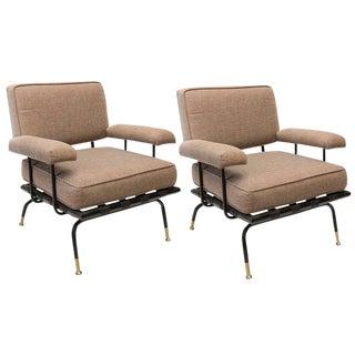 Troy Sunshade Sculptural Iron Chairs - a Pair