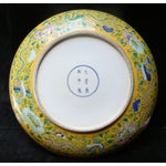 Image of Chinese Yellow Color Phoenix Porcelain Plate