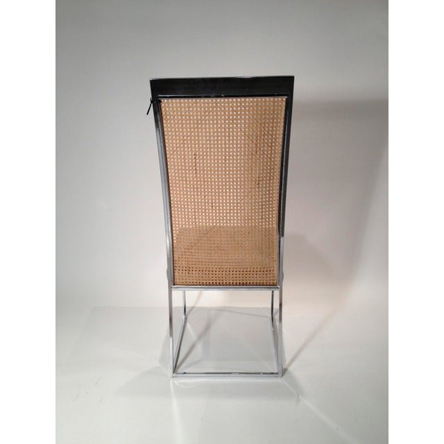 Set of Eight Milo Baughman Chrome and Cane Back Dining Chairs - Image 10 of 10