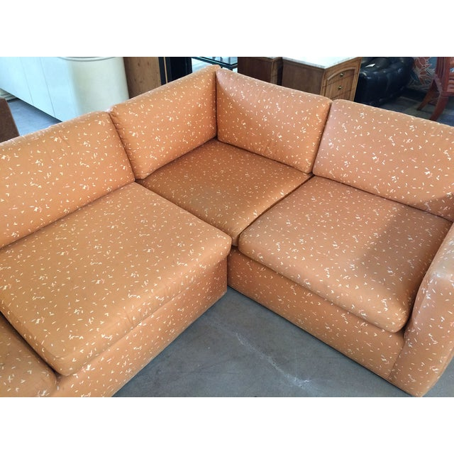 Milo Baughman Large Sectional Sofa with Pullout - Image 4 of 8