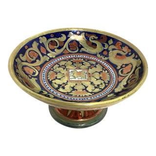 Gubbio Italian Majolica Pedestal Dish