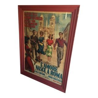 1958 Italian Movie Poster