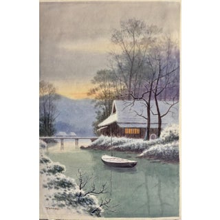 Japanese Watercolor Painting by Takeda