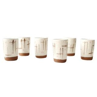 Walter Sullivan Roche MCM Ceramic Cups - S/6