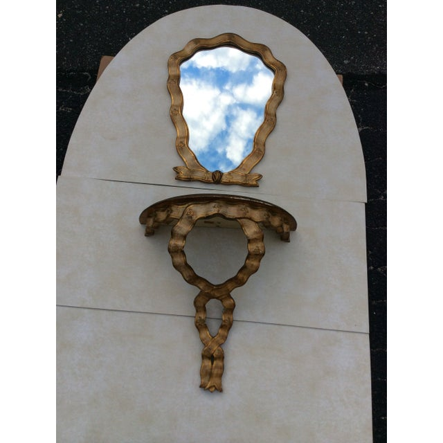 Image of 1940s Gilt Frame Italian Mirror & Shelf