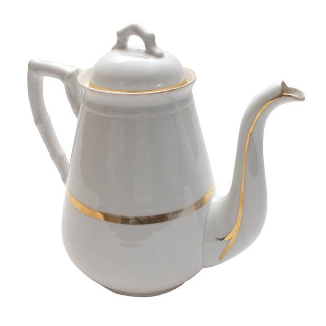 Wedding Band China Antique Coffee Pot C. 1890s - Image 1 of 5