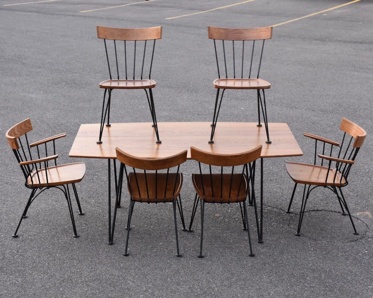 Lovely Lyman Woodard Dining Table And Chairs   Set Of 7   Image 2 Of 11