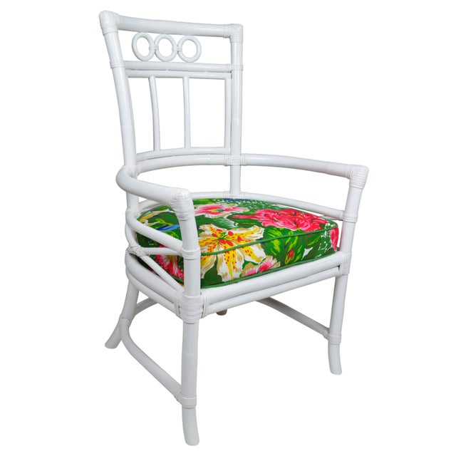 Ficks Reed Colony White Rattan Armchairs - a Pair - Image 3 of 7