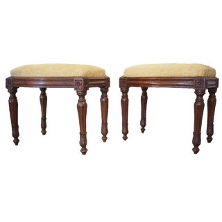 A Pair of Fine Louis XVI Style Taborets
