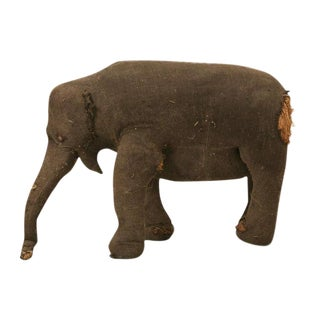 Circa 1910 Child's Stuffed Elephant Toy
