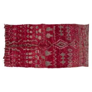 Vintage Amp Used Red Traditional Handmade Rugs