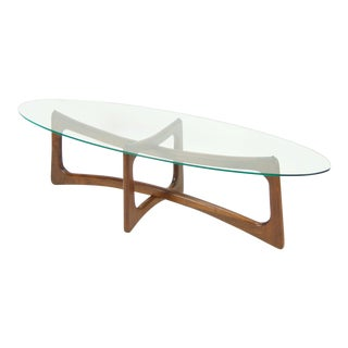 Adrian Pearsall Mid Century Modern Glass Top Coffee Table