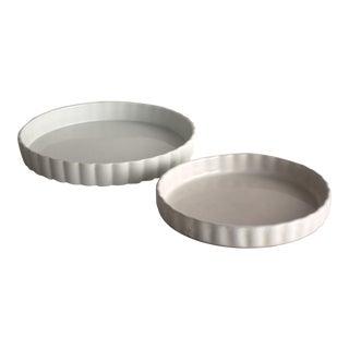 Vintage White Tart Pans - A Pair