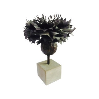 Abstract Modernist Brutalist Metal Tree Sculpture