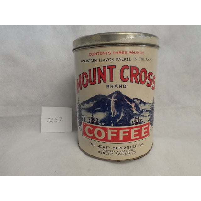 Morey Mercantile Colorado Mount Cross Coffee Tin - Image 2 of 3