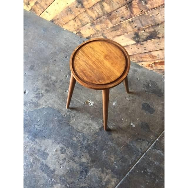 Image of Mid-Century Danish Plant Stand Side Table