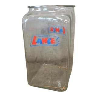 1940s Vintage Lance Drug Store Counter Jar